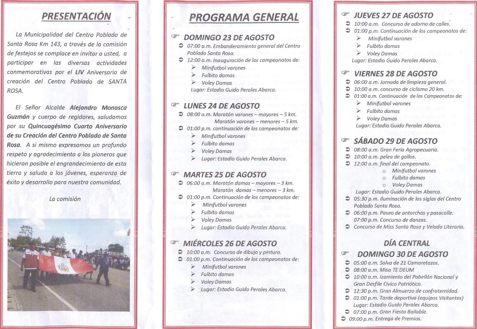 Municipalidad distrital de inambari f liz 54 aniversario for Oficina de extranjeria avenida de los poblados