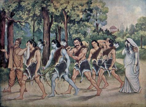 ilustrasi-pandawa-lima-menyang-alas-dalam-cerita-wayang-mahabharata-berbahasa-jawa