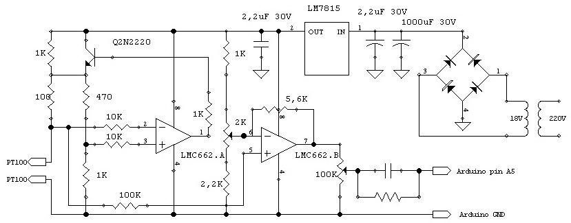 Circuito Operacional : Llimalabs vacuómetro digital con arduino
