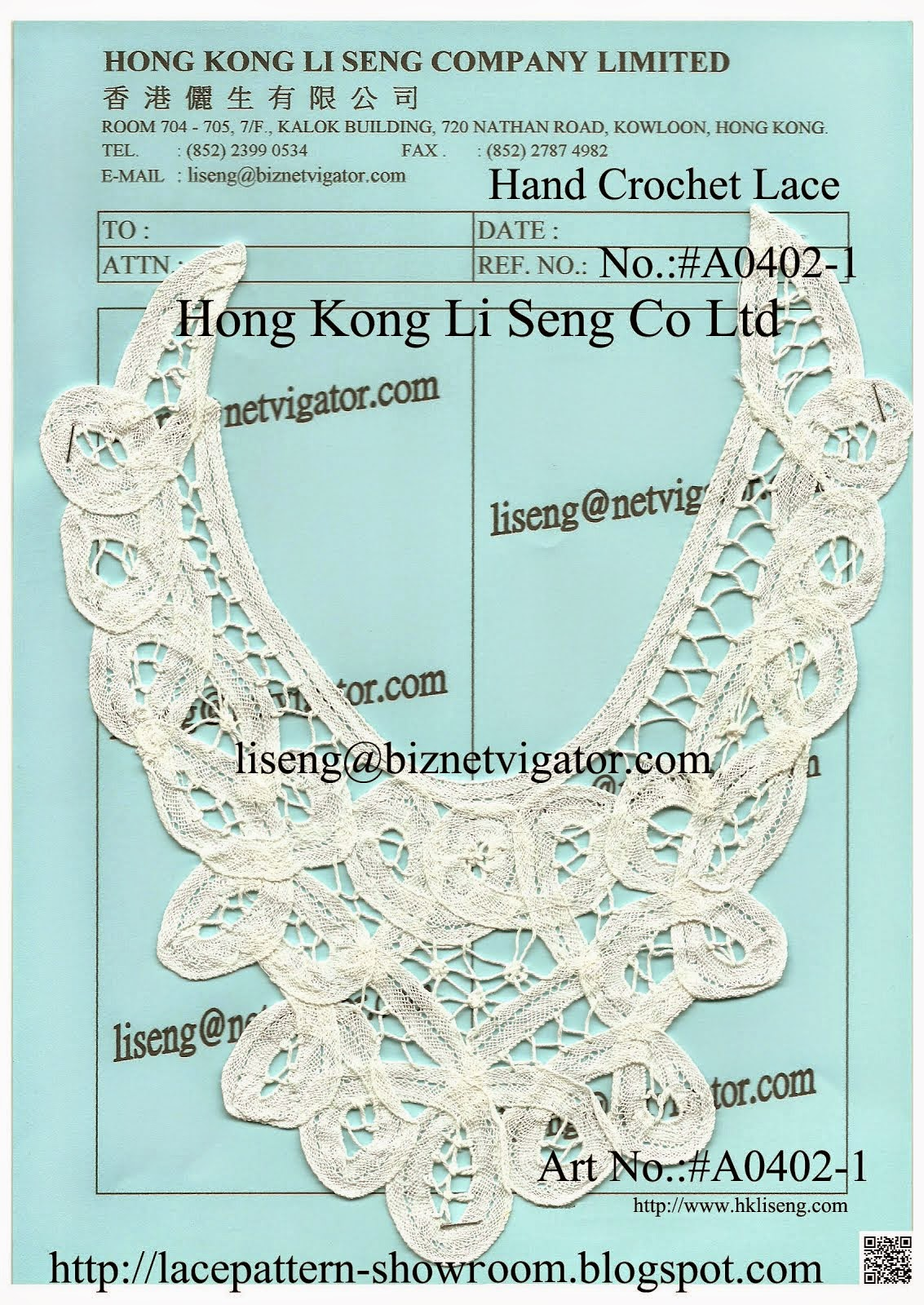 Chinese Handmade Crochet Applique Wholesale and Manufacturer - Hong Kong Li Seng Co Ltd