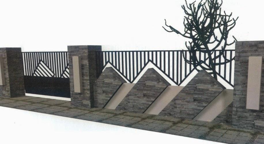 pagar rumah modern, contoh pagar rumah modern