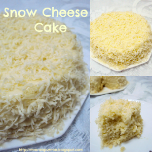Untuk Tempahan : Snow Cheese Cake , saiz 9 dan saiz 7