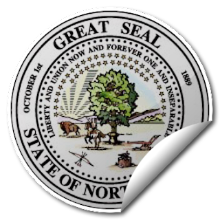 Sticker of North Dakota Seal