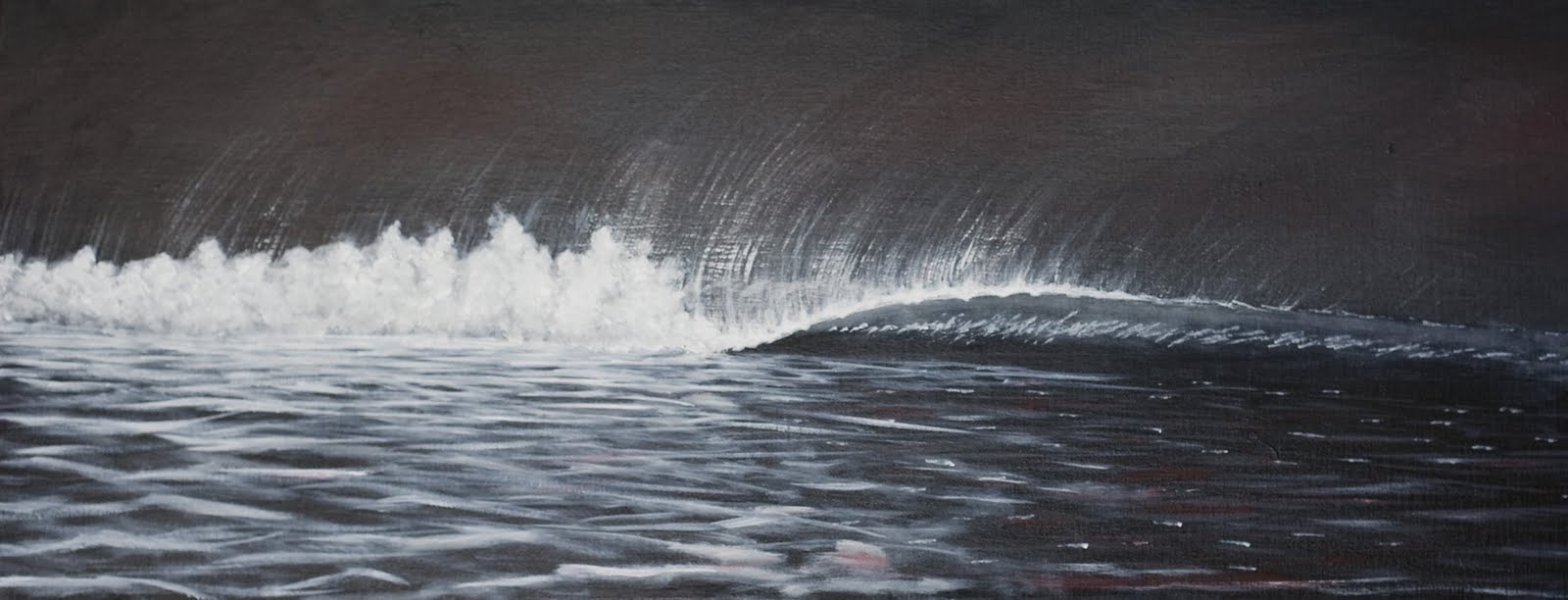 Wave Black And White Black and white paintings