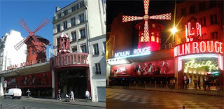 moulin rouge at day at night