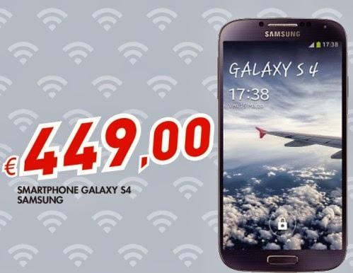 Per 449 euro da Bennet potrete acquistare lo smartphone Android Samsung Galaxy S4, uno dei prezzi migliori in assoluto se non acquistate online