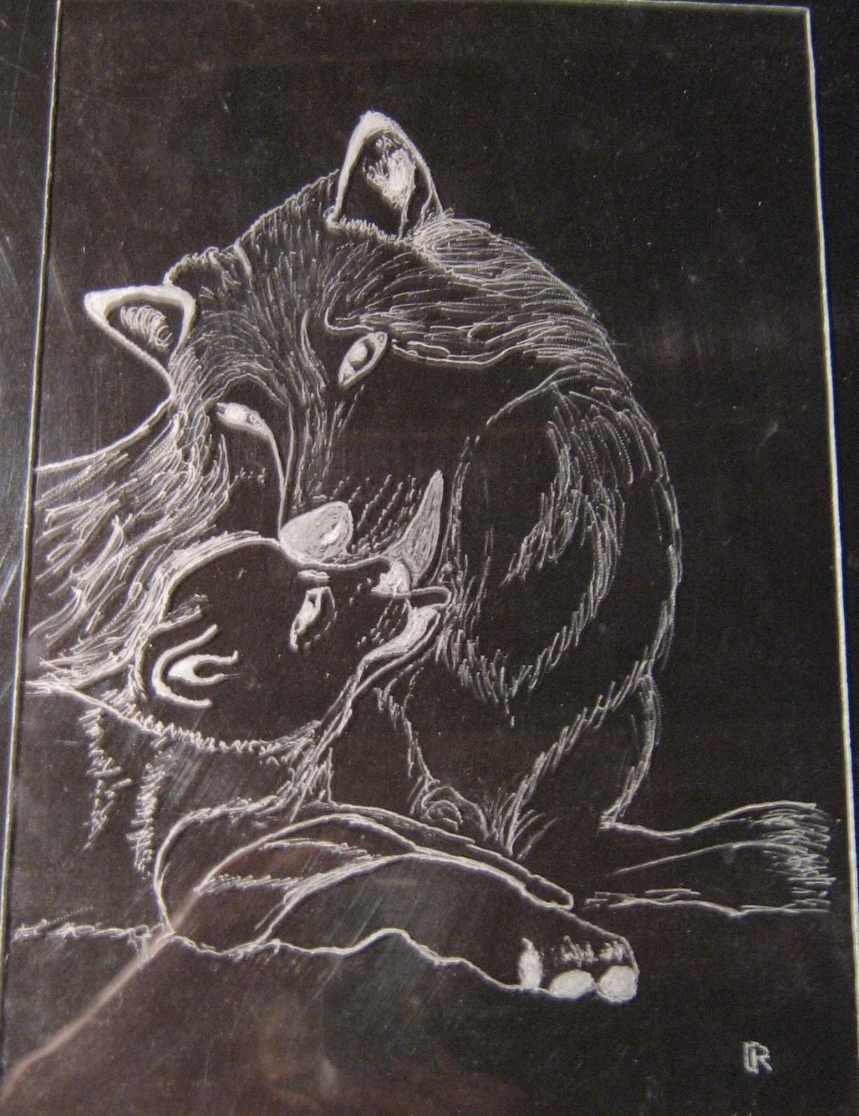 Gravures Sur Verre tout montfrialoux gravure, expo de gravure sur verre: les vitres (animaux)