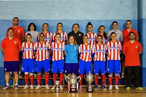 FÚTBOL SALA-Campeonas de liga el Atlético de Madrid Navalcarnero