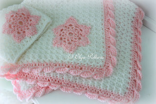 Star Stitch Baby Blanket and Hat, $4.95