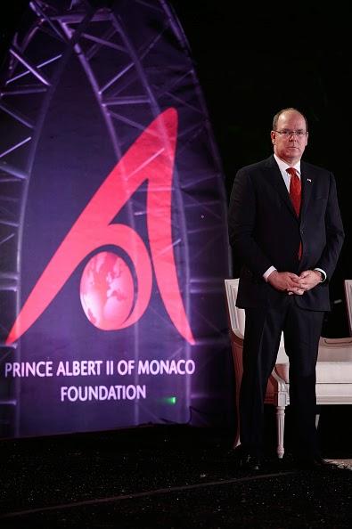 Ted Danson, Pr Ove Hoegh-Guldberg, Caroline Pollock, Prince Albert II of Monaco and Dr. Sylvia Earle attend the 'Prince Albert II of Monaco's Foundation' Award Ceremony