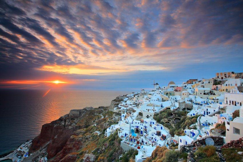 santorini view sunset cruise