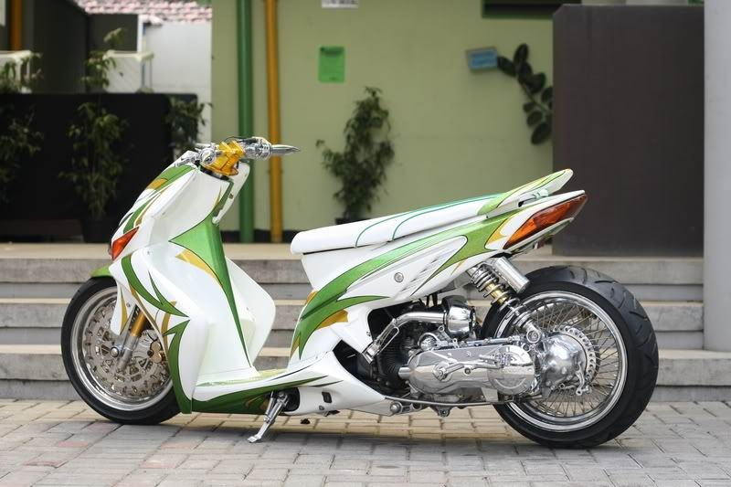modifikasi motor matic terkeren
