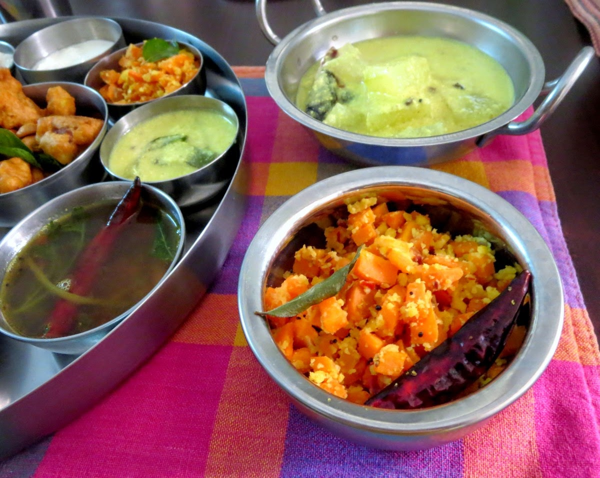 carrot paruppu usili   carrot lentil stir fry ~ tamil nadu style