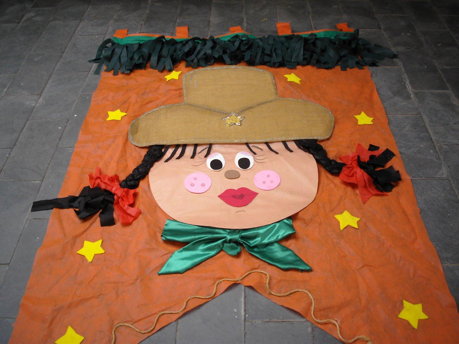 Pr u00f4 Carol Decoraç u00e3o Festa Juni # Decoração Tnt Festa Junina