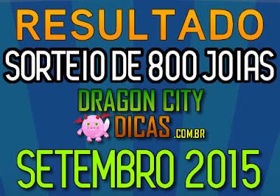 Resultado do Super Sorteio de 800 Joias - Setembro 2015