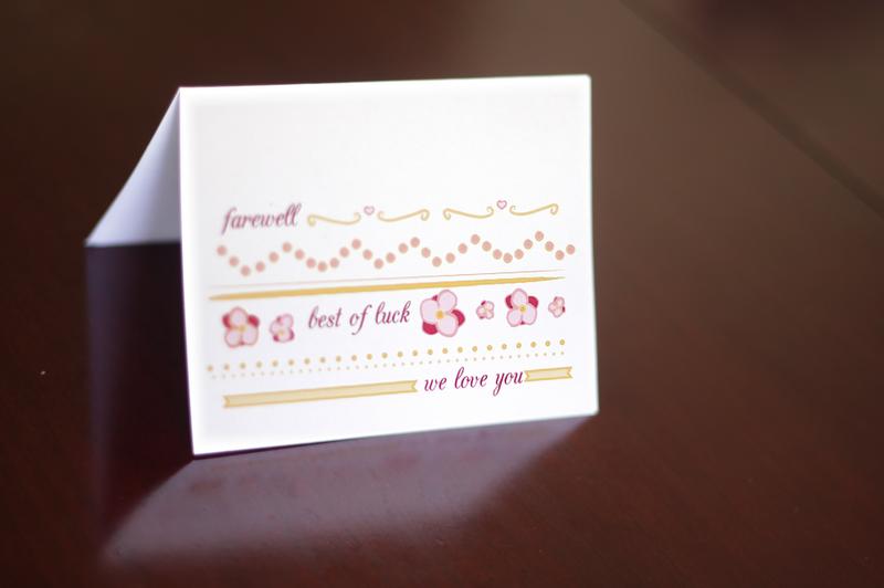 Farewell Card; Free Printable