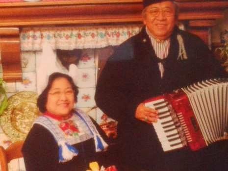 Foto Megawati dan almarhum Taufik Kiemas berkostum Belanda (Nurul detikTravel)