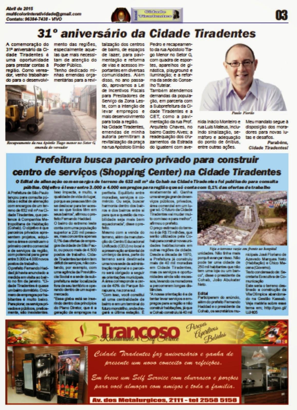 Jornal Cidade Tiradentes 56/3