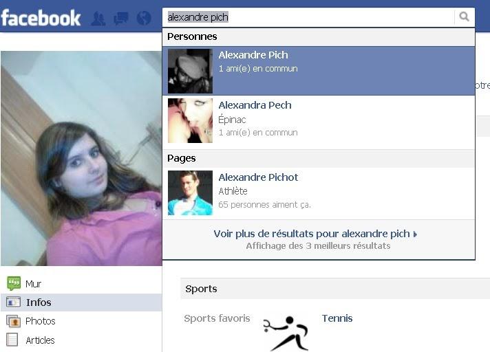 Recherche celibataire sur facebook