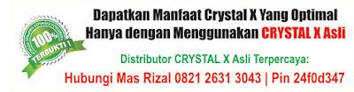 distributor crystal x asli nasa jogja di samarinda