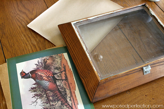 Disassemble old pictures to add in scrapbook paper for a fun accent piece.