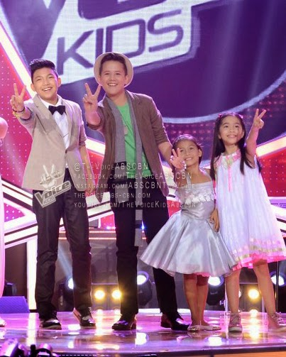 The Voice Kids Final 4 Darren, Juan Karlos, Lyca and Darlene