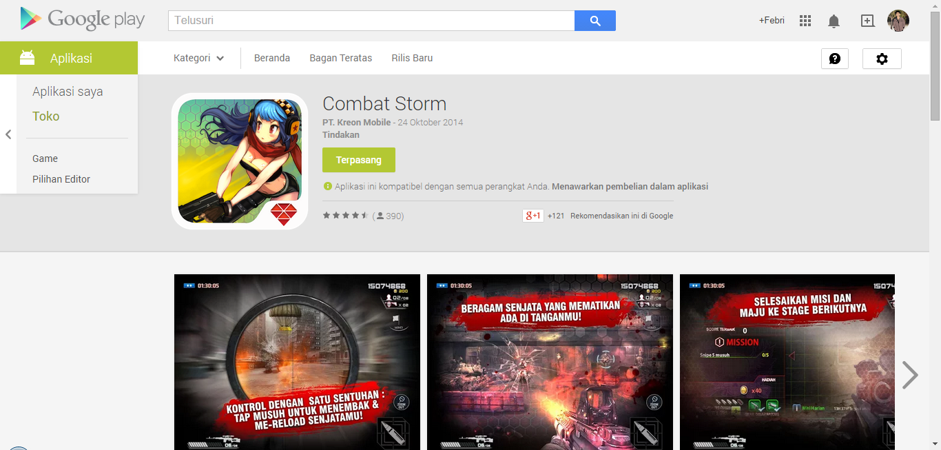 Review Game FPS Android no 1 - Combat Storm Gemscool