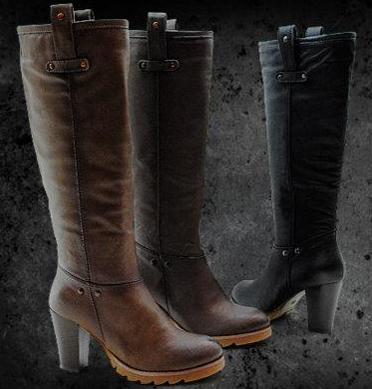 botas altas tacón mujer