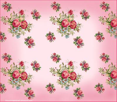 fondo vintage en rosa con flores