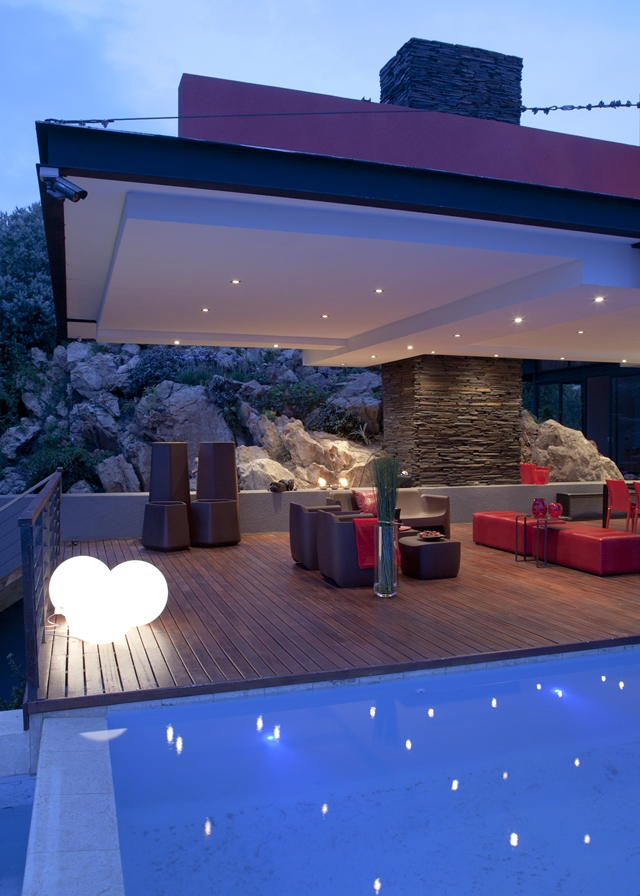 Picture of covered terrace by the pool