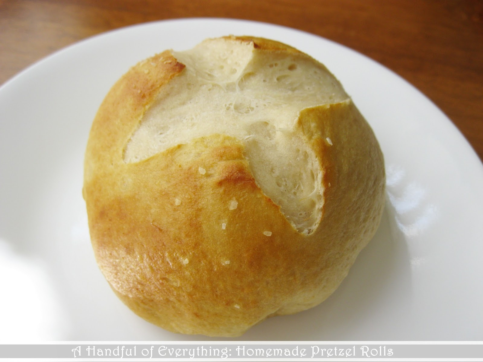 A Handful of Everything: Homemade Pretzel Rolls