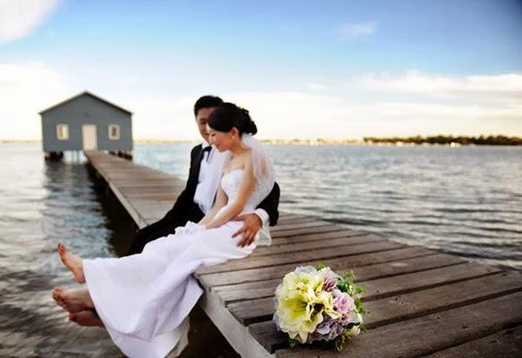 Pre Wedding di Dermaga atau Rumah Apung