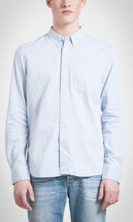 camisa rebajas de algodon azul claro Pepe Jeans London