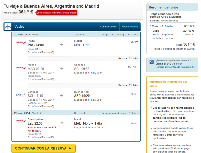Buenos Aires low cost