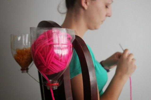 Dispensador de lanas reciclado
