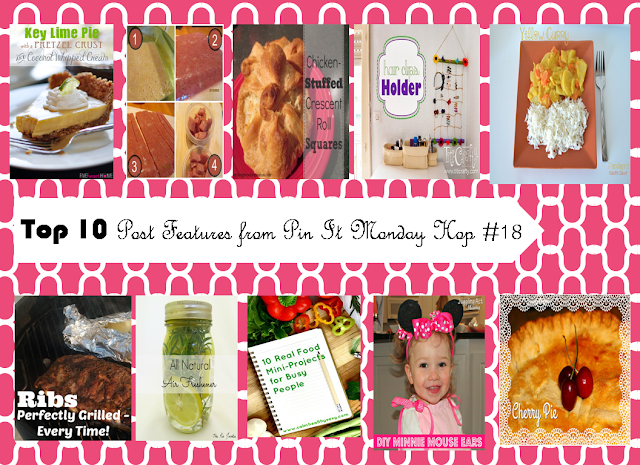 Top 10 Post Features from Pin It Monday Hop#18