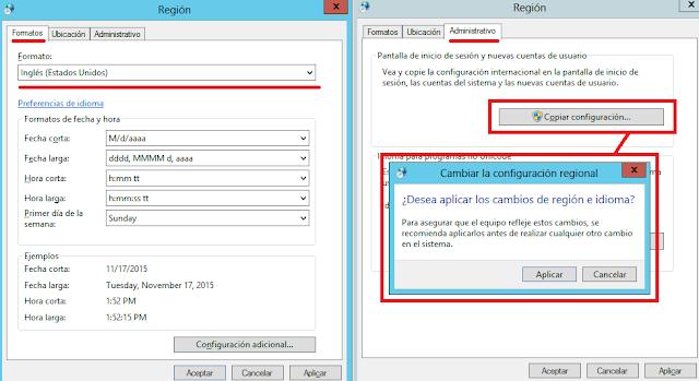 Windows: Cambiar formato fecha al inglés