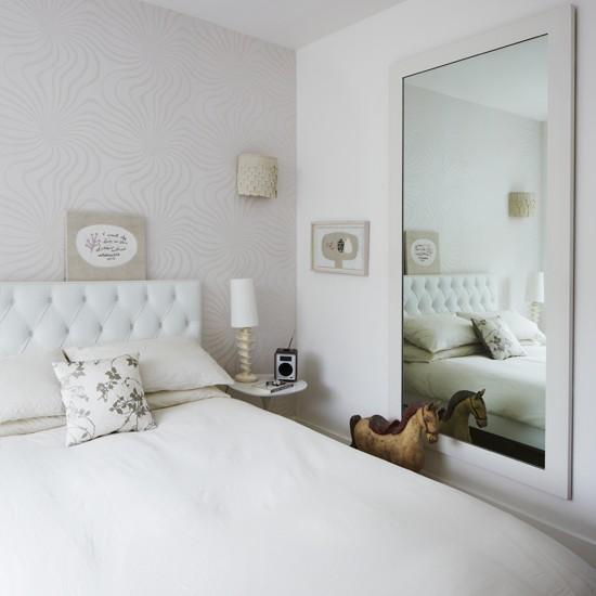 Habitaciones color blanco dormitorios con estilo for Espejo pared habitacion