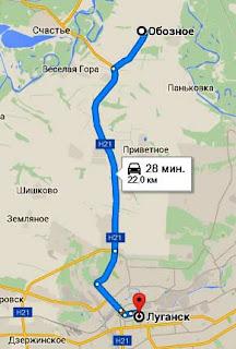 карта ЛНР