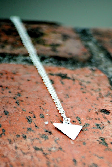 I Love My Dog Triangle Necklace