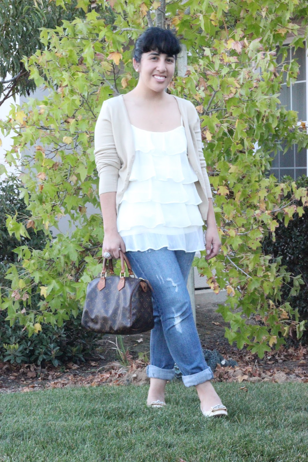 Feminine Top and Boyfriend Jeans