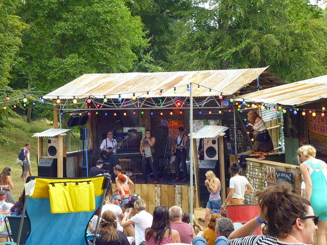 Juke Joint shack and music at wilderness festival