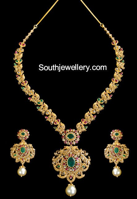 Go back gt gallery for gt uncut diamond necklace sets with price