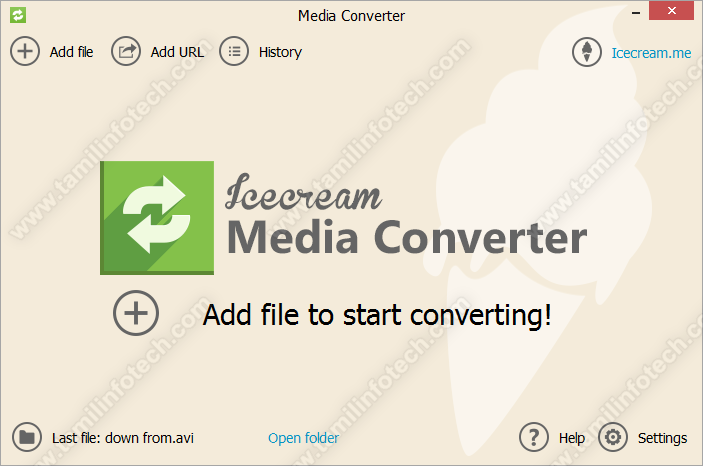IceCream Media Converter Free software