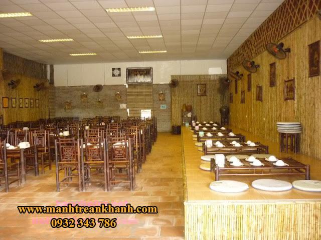 Bàn ghế tre nhà hàng mẫu gt01