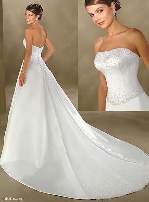 Vestido de noiva tomara que caia ultima tendencia,moderno