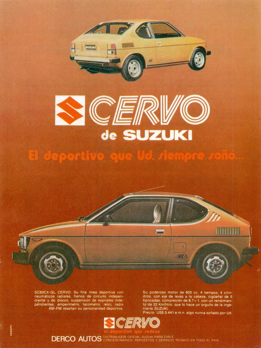 suzuki cervo sc80, chile, south american market, niewielki samochód, klasyczne małe auto