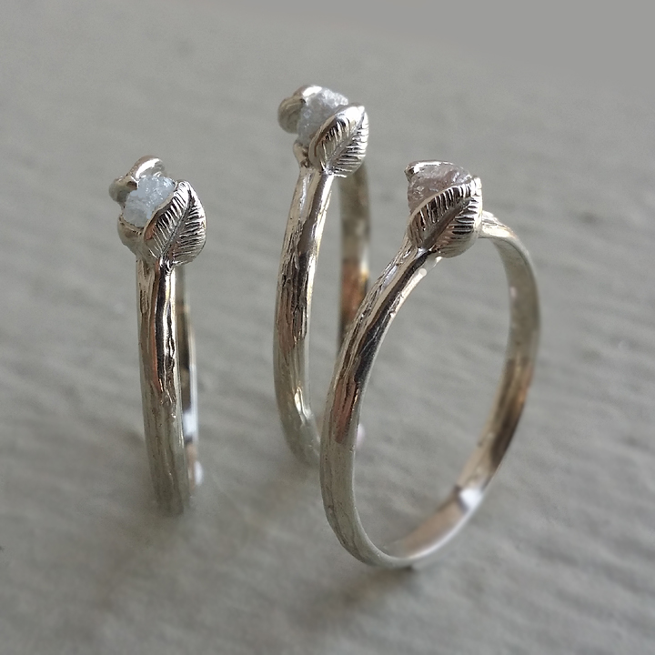 Dawn Vertrees Raw Uncut Rough Engagement Wedding Rings