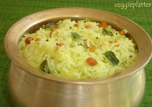 Veggie Platter: Easy Breezy Green Mango Rice ~ Mamidikaya ...