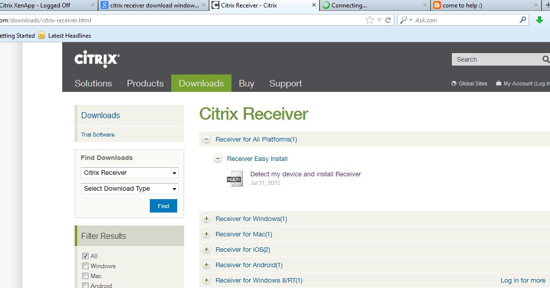 come to help :): Cara Instal citrix receiver di PC Pribadi / Warnet